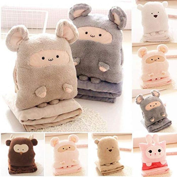 3 in 1 Animals Pillow Blanket 70% off + Free Delivery