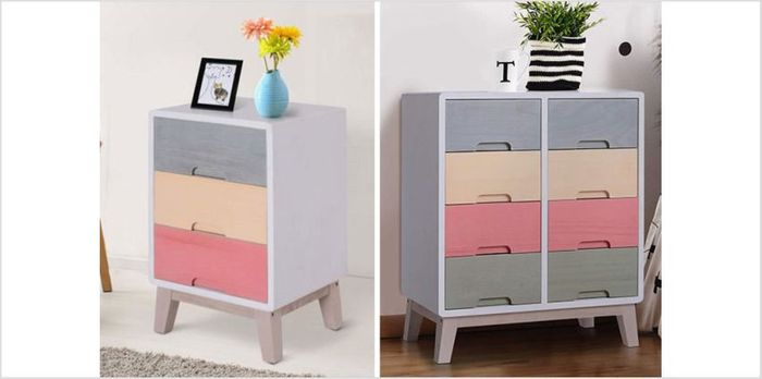 Cheap Rainbow Chest of Drawers 2 Sizes On Sale From £112.01 to £63
