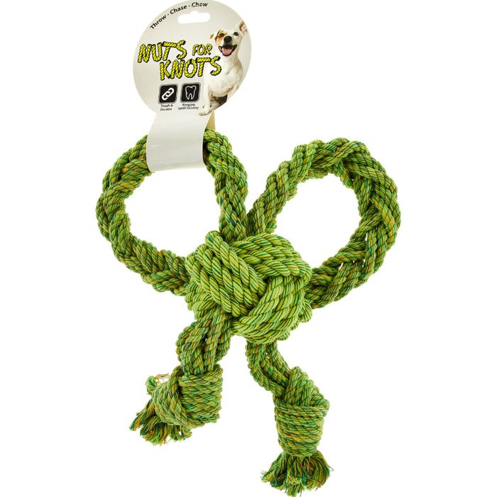 NUTS for KNOTS Green Bow Tugger Pet Toy