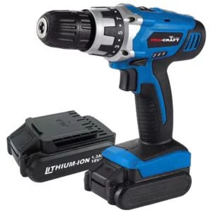 Pro-Craft by Hilka 18V Li-Ion Cordless Drill, 2 Battery Packs £29.74 with Code