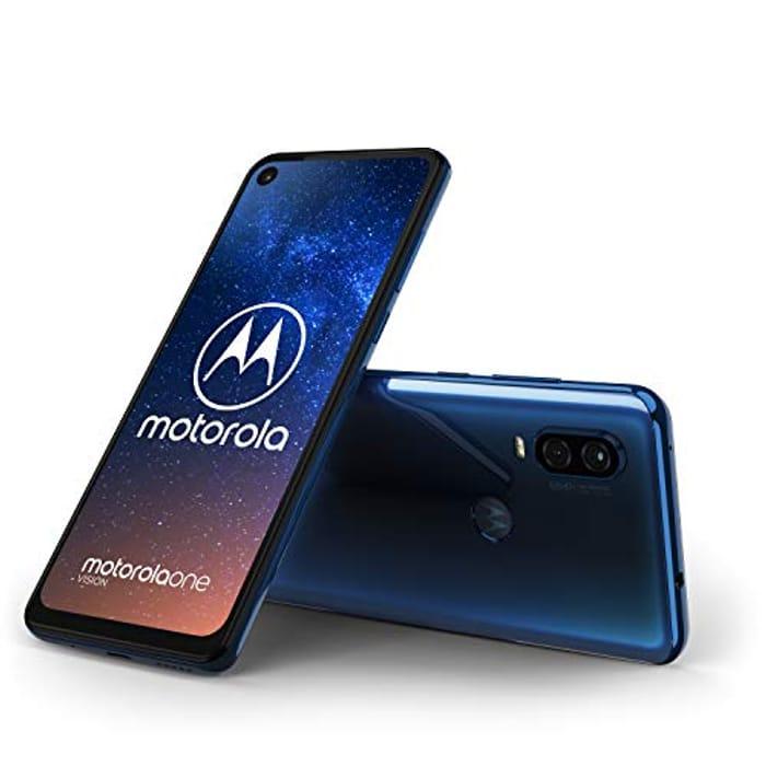 Motorola Moto One Vision, 6.3 CinemaVision FHD+ Display, 48Mp Sensor