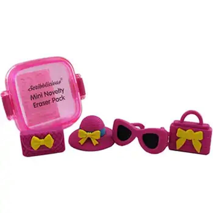 Mini Novelty Erasers Pack - Hats, Handbags and Glasses