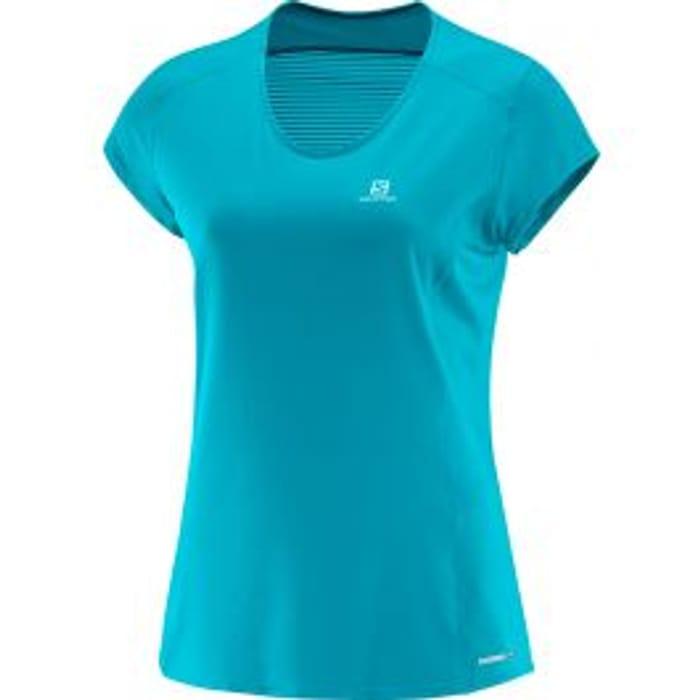 Salomon Women's Comet AdvancedSkin S/S T-Shirt - Enamel Blue