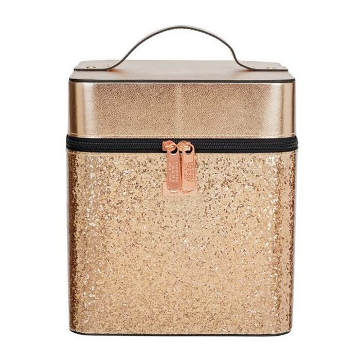 SOHO Rose Gold Glitter Vanity Case at Argos Only £11.99