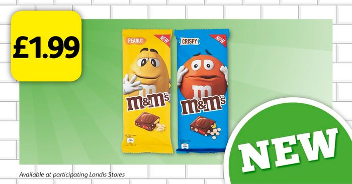 Peanut & Crispy M&M'S Packets for £1.99