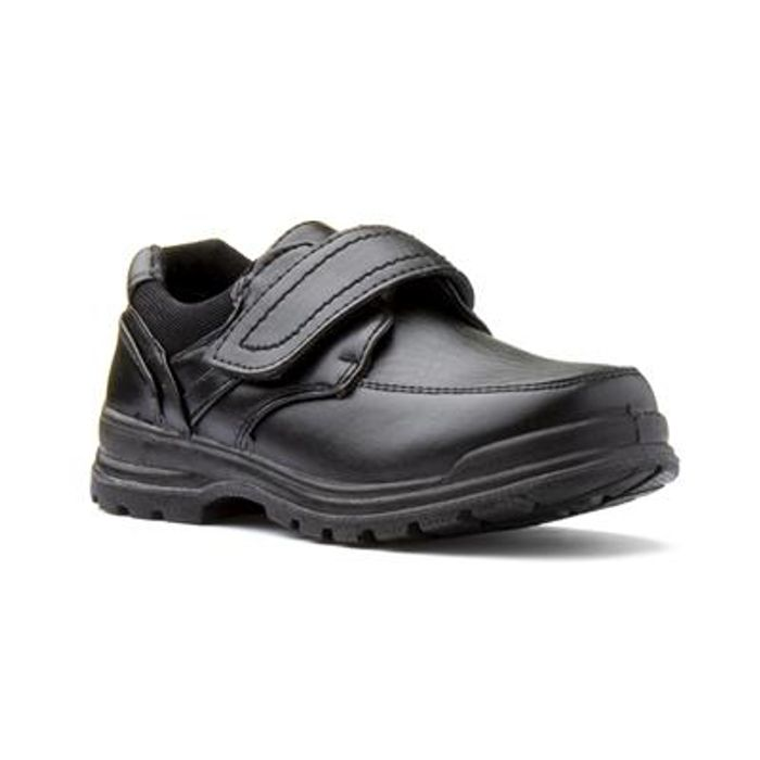 Trux Boys Black Easy Fasten Shoe - BACK to SCHOOL