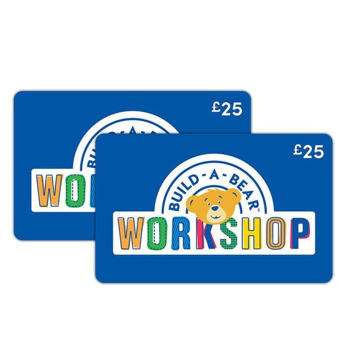 £50 BUILD-a-BEAR Gift E-Card Multipack (2 X £25)