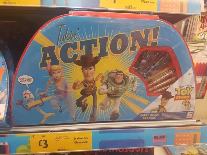 Toy Story Art Case 25%off at Morrison's (Speke, Liverpool)