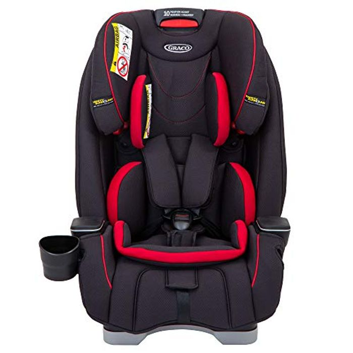 Graco SlimFit All-in-One Car Seat, Group 0+/1/2/3, Fiery Red