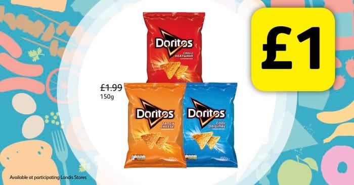 Doritos 150g Bags for £1