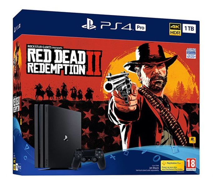 PS4 Pro 1TB Red Dead Redemption 2 Console Bundle