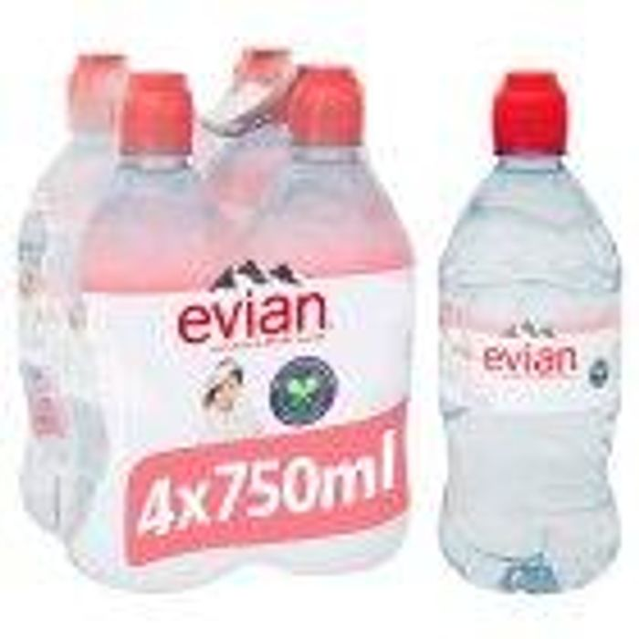 4 Pack of 75cl Sports Top Evian Water 53%off Instore at ASDA (Dundee)