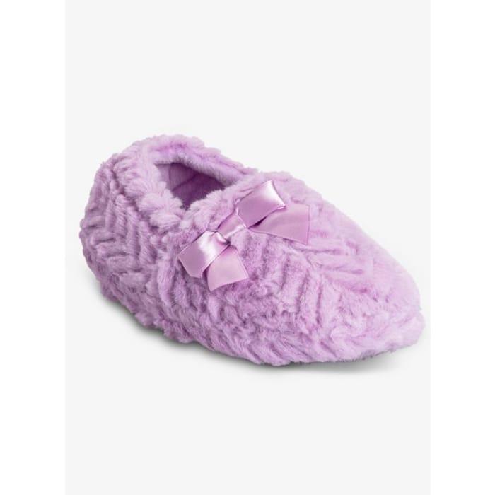 Purple Faux Fur Slippers