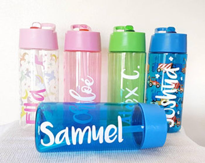 Personalised Sparkle Water Bottle Drink
