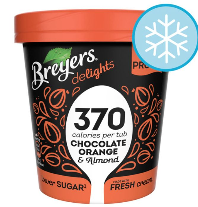Breyers Delights Chocolate Orange Crunch Ice Cream 500Ml *HEALTHY & HALF PRICE!