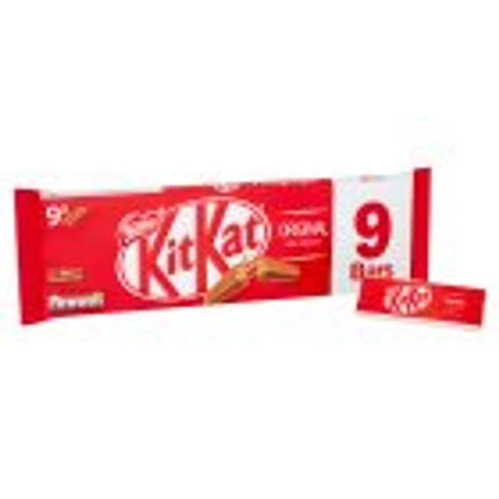 9pk Kit Kat 2 Fingers, Milk, Dark, Orange or Mint Flavours Half Price