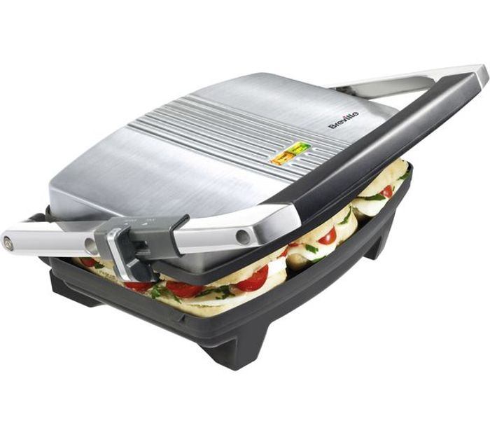 BREVILLE Cafe-Style Sandwich Press - Brushed Stainless Steel