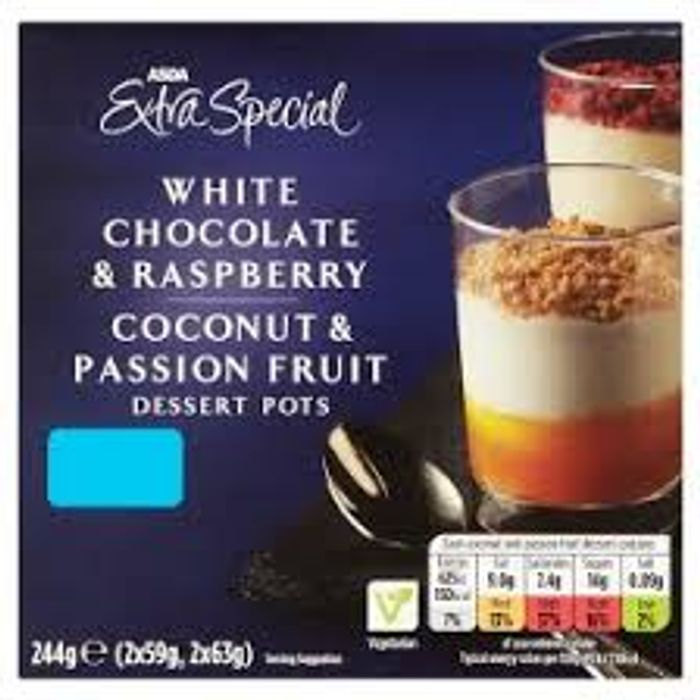 Cheap ASDA Extra Special Dessert Pots on Sale From £2 to £1