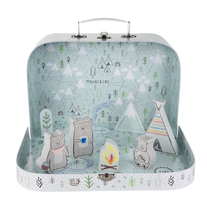 Bear Camp Suitcase Play Set