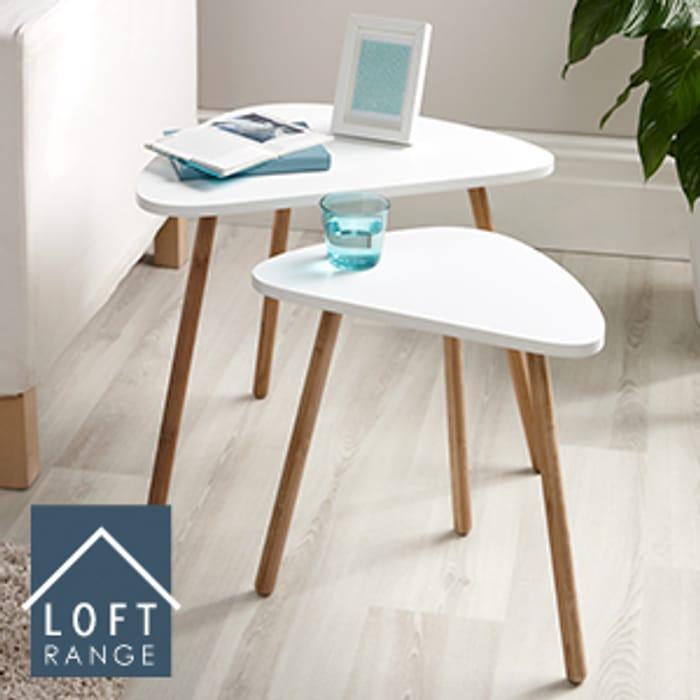 Loft Nesting Tables: Set of Two (White)