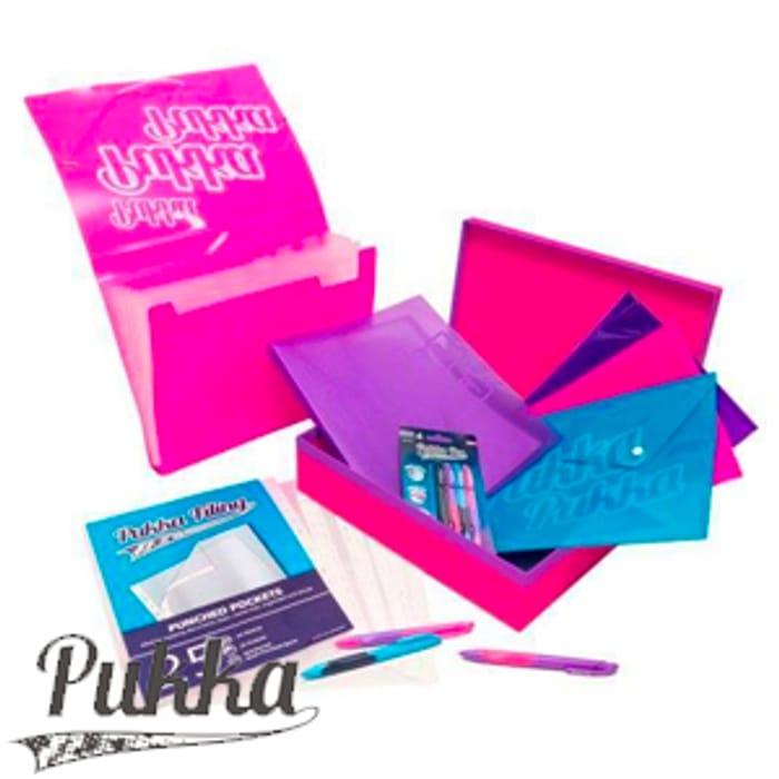 Pukka Filing Collection: Pink / Blue