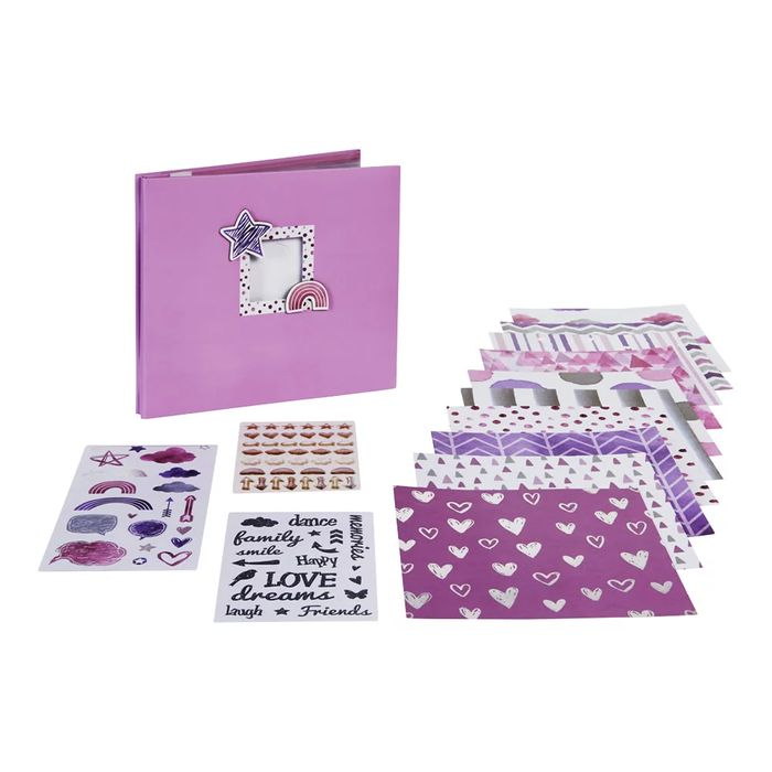 Let's Create Pink Scrapbooking Kit 8 X 8in 20 Sheets
