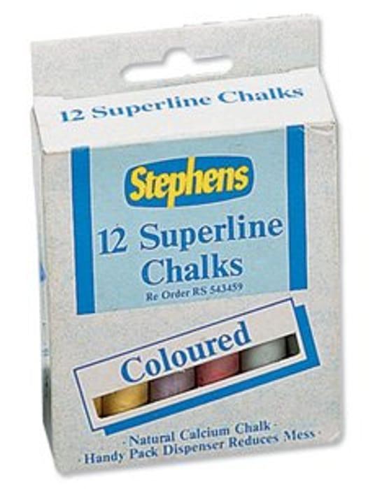 Stephens Superline Chalk Assorted Colours