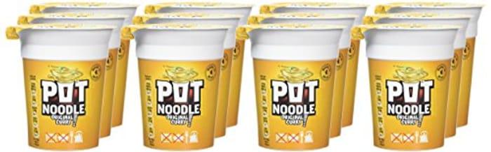Pot Noodle Original Curry Standard, 90 G, Pack of 12