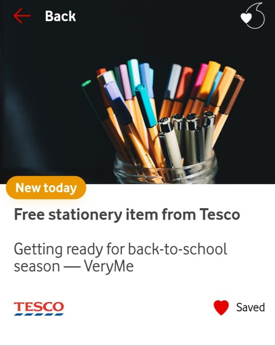 Free Stationery Item from Tesco