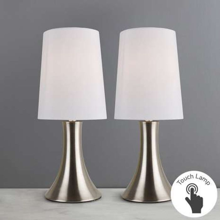 Hula Twin Pack White Touch Lamps FREE C&C