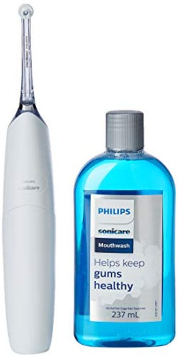 Best Ever Price! Philips Sonicare White AirFloss Pro Power Flosser & Mouthwash