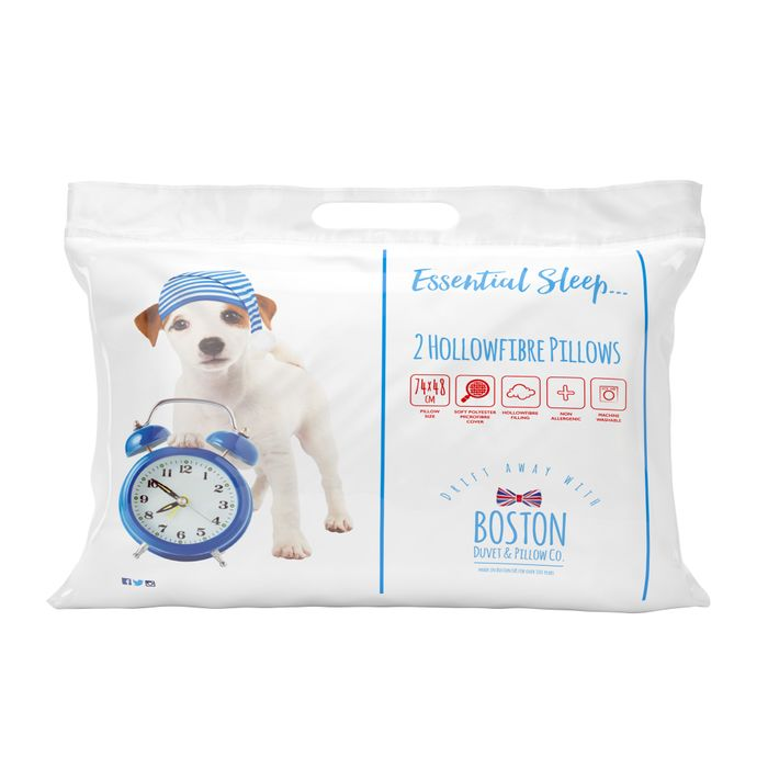 2 Pack of Hollowfibre Pillows on BOGOF Pillow £6.99 Delivered