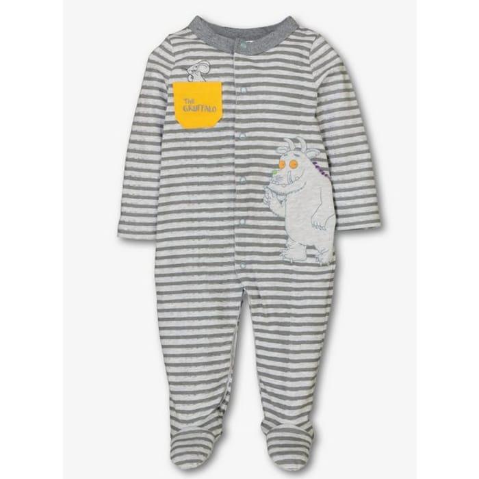 The Gruffalo Grey Stripe Sleepsuit