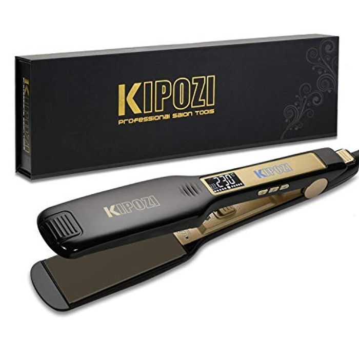Professional Hair Straighteners with Digital LCD Display