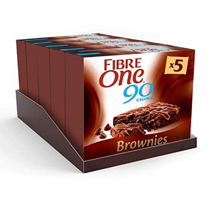 Best Ever Price! Fibre One 90 Calorie Chocolate Fudge Brownies ( 25 Bars!)