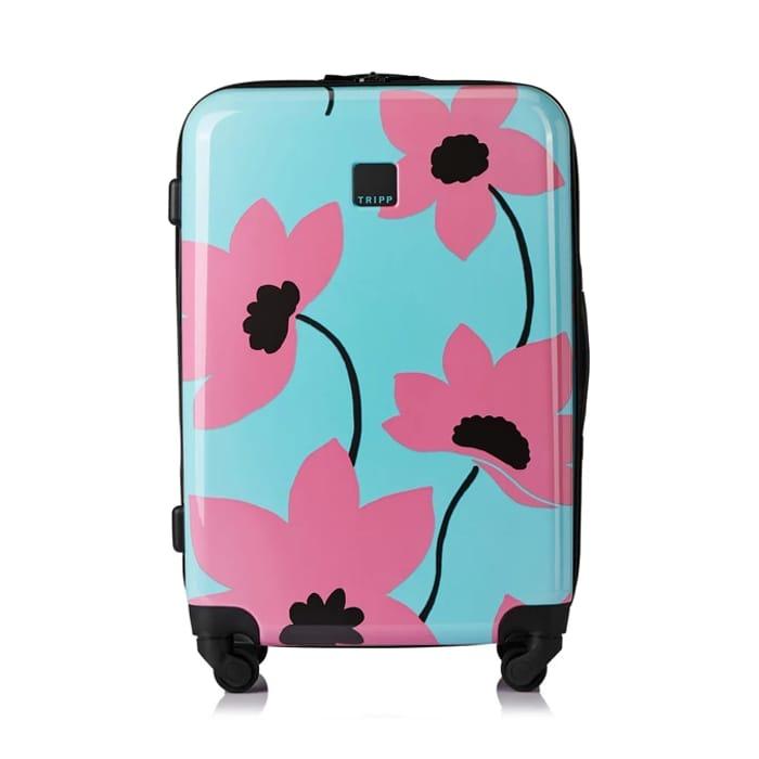 Tripp Turquoise/Flamingo 'Azalea' Medium 4W Suitcase - HALF PRICE: £42