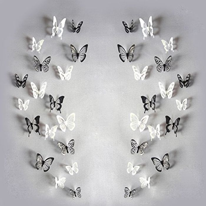 YiGo 3D Butterfly Wall Sticker, Stone, Style 01, 18pcs, Free Delivery