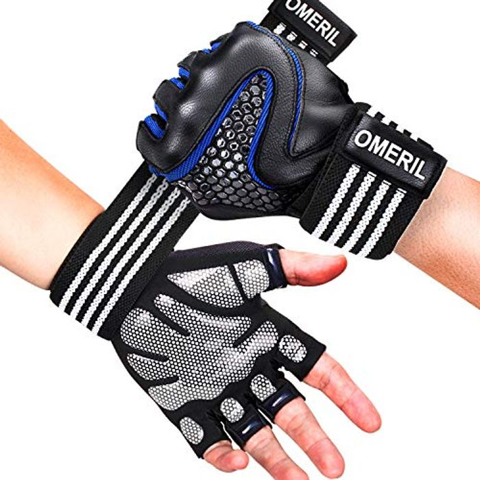 Weight Lifting Gloves with Full Wrist Support, Breathable Lycra & Extra Grip