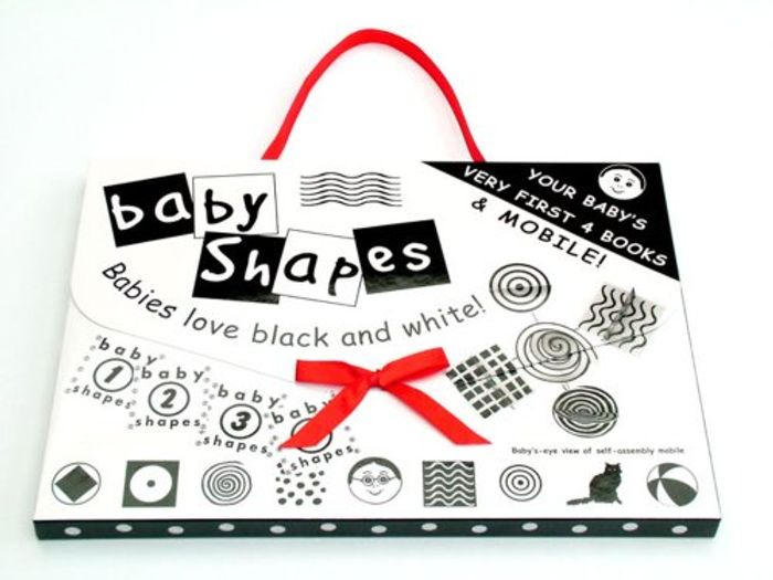 Baby Shapes 4 Books and Mobile Set (Helen Dorman)