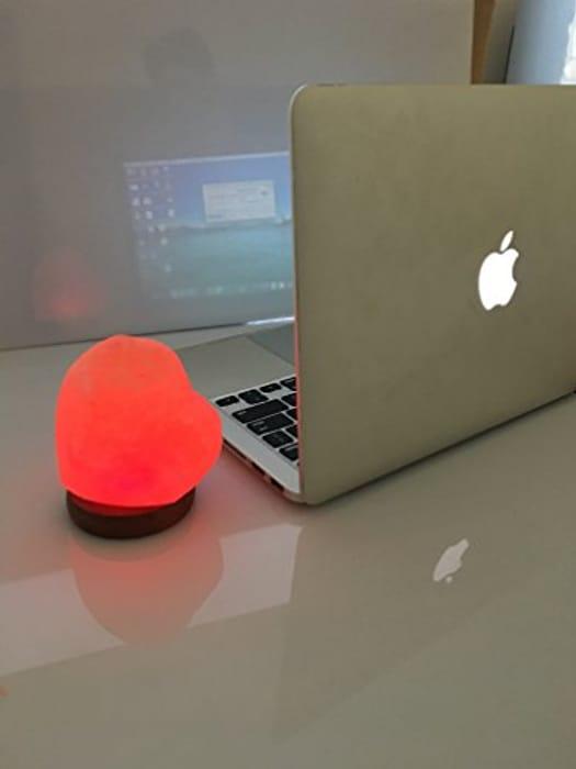 HEART Himalayan Pink Salt MINI USB LAMP