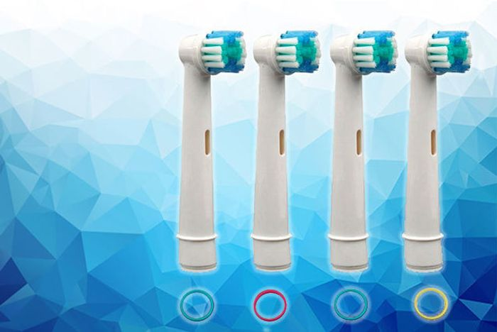 4 Oral B-Compatible Toothbrush Heads at Wowcher Only £1