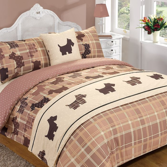 Tartan Scottie Dog 5 Piece Bed in a Bag - Single