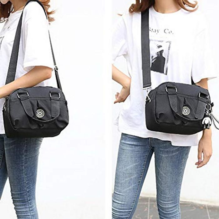 Ladies Multi Pocket Cross Body Satchel/ Casual Bag.