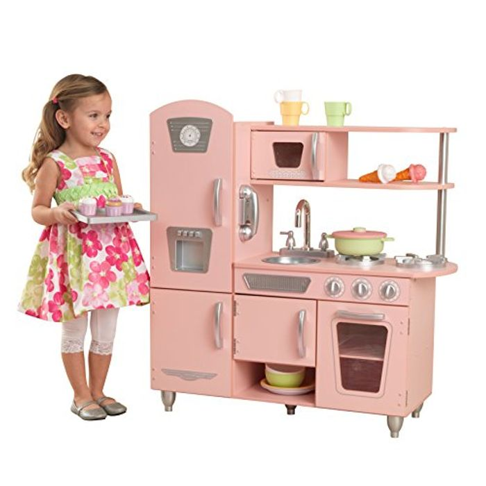 AMAZON DEAL OF THE DAY: KidKraft Pink Vintage Wooden Play Kitchen