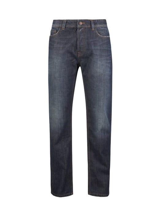 **Burton Distress Green Cast Logan Straight Fit Jeans