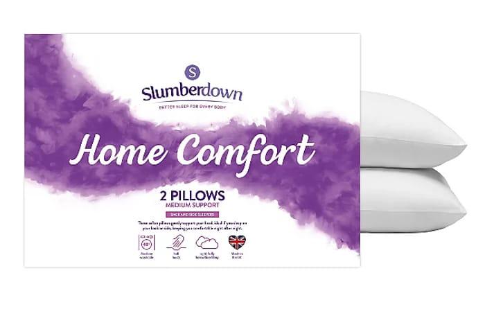 Slumberdown Home Comfort Pillow Pair Only £6