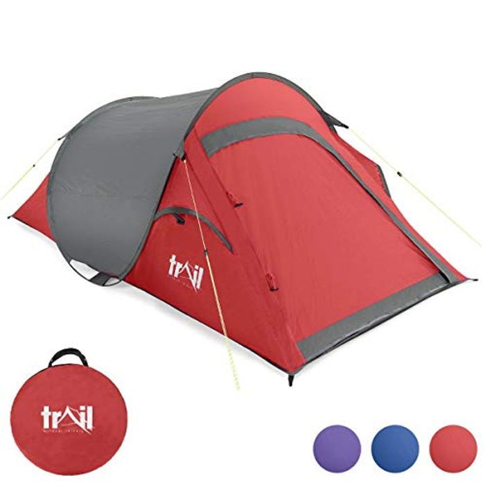 Cheap Pop up Tent 2 Man Easy Quick Pitch Two Person Festival Camping Only £26.99