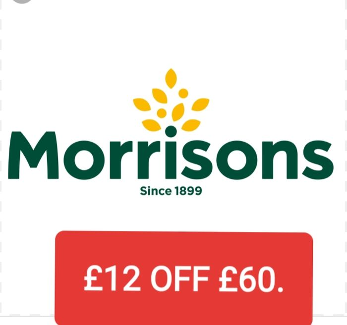 Morrisons Groceries Get £12 off Your £60 Shop.