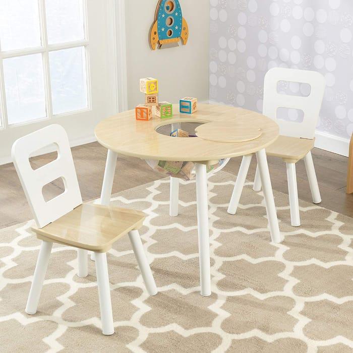 Best Ever Price! KidKraft Round Storage Table & 2 Chair Set