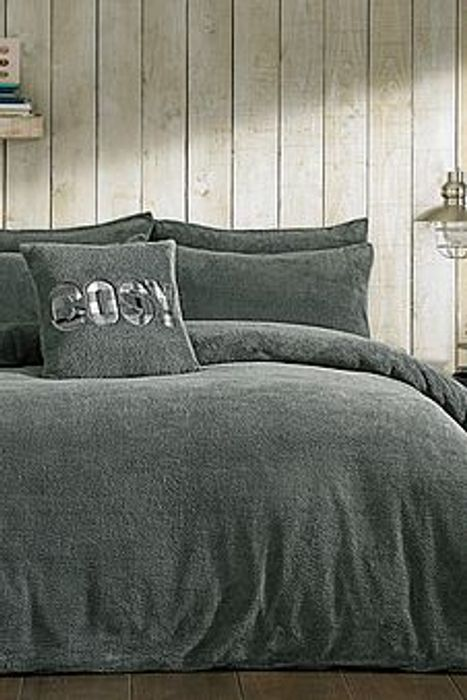 Bargain! Ultra Cosy Teddy Fleece Duvet Set at studio